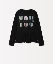 SISLEY YOUNG/ホログラム切り替えTシャツ・カットソー/502445375