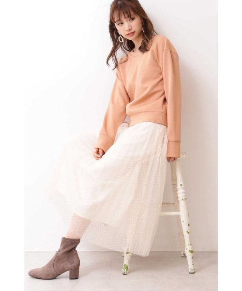 PROPORTION BODY DRESSING(プロポーション ボディドレッシング)/◆ドットチュールプリーツスカート/1219220802