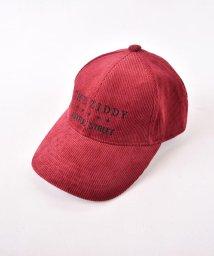 ZIDDY/コーデュロイロゴ刺繍キャップ/502449531