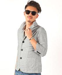 LUXSTYLE/杢デザインイタリアンカラー七分袖ジャケット/イタリアンカラー ジャケット メンズ 7分袖/502450590