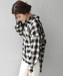 Khaju/Khaju:チェックオーバーサイズシャツ/502450829