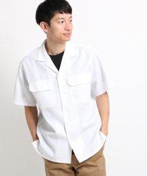 THE SHOP TK/【吸水速乾/セオアルファ糸使用】さらさらオープンカラー半袖シャツ/502450959