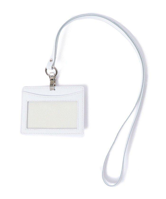 シップス SHIPS: イタリアンレザー IDケース メンズ ホワイト ONESIZE 【SHIPS】