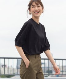 coen/【新色ブラック登場】コットンパフスリーブカットソー/502041489