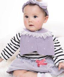 e-baby/天竺+チュール星プリントフリルスタイ/502420197
