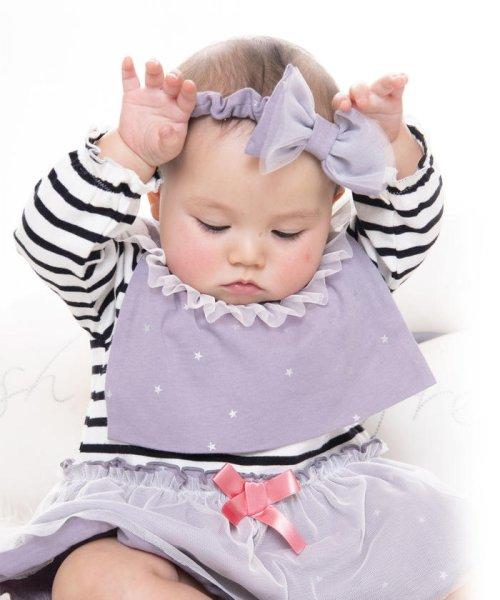 e-baby(イーベビー)/天竺+チュールリボンヘアバンド/183415596
