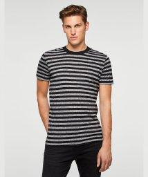SISLEY/ボーダーラウンドネック半袖Tシャツ・カットソー/502427246
