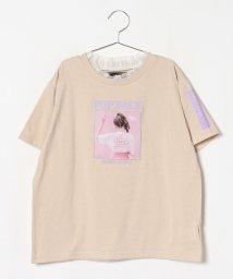 Lovetoxic/衿チュールフリルフォトプリントTシャツ/502439206