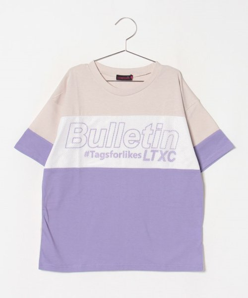 Lovetoxic(ラブトキシック)/メッシュブロッキングTシャツ/8393218