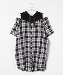 Lovetoxic/レイヤードチェックシャツワンピース/502439210