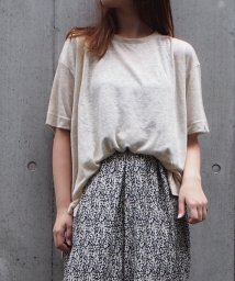 INTERPLANET/LINEN100クルーネックBIG T/502439262