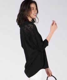 VICKY/起毛レースコンビシャツ/502451352