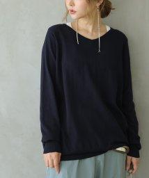 osharewalker/【綿ニット】ゆるやかVネックシンプルニット/502451928