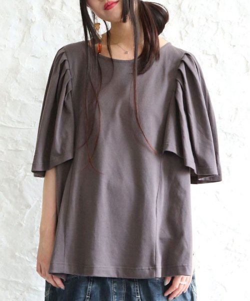 osharewalker(オシャレウォーカー)/n'OrプリーツフリルTシャツ/nz-178