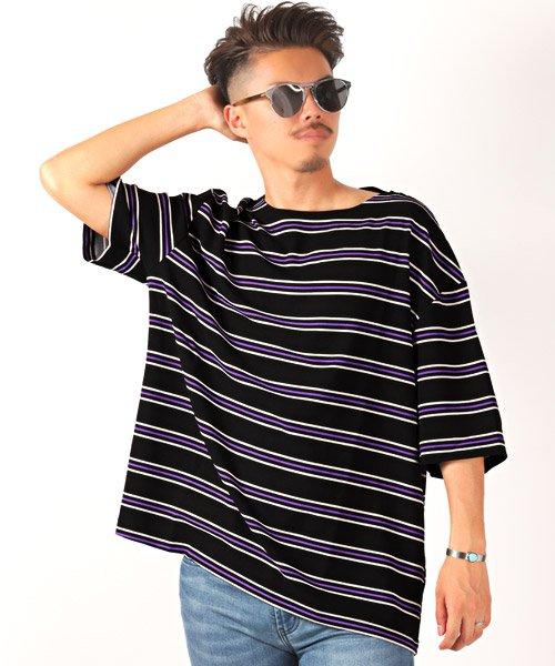 LUXSTYLE(ラグスタイル)/ボーダー柄ボートネック半袖Tシャツ/Tシャツ メンズ 半袖 5分袖 ボートネック ボーダー/pm-8610