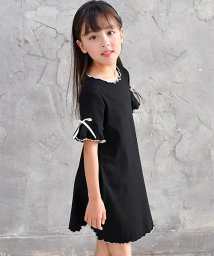 子供服Bee/ブラックメロウリブワンピ/502453401