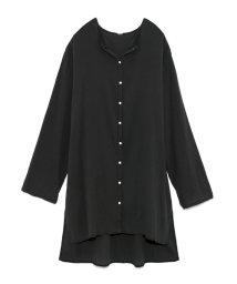 Mila Owen/楊柳ノーカラーシャツ/502453433