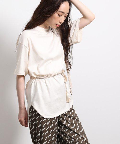 ROPE'(ロペ)/【ロープベルト付き】オーバーサイズTシャツ/GGM39430