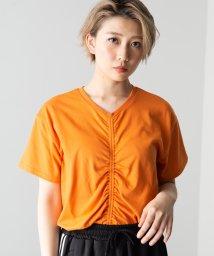 WEGO/WEGO/ドロストシャーリングTシャツ/502354375