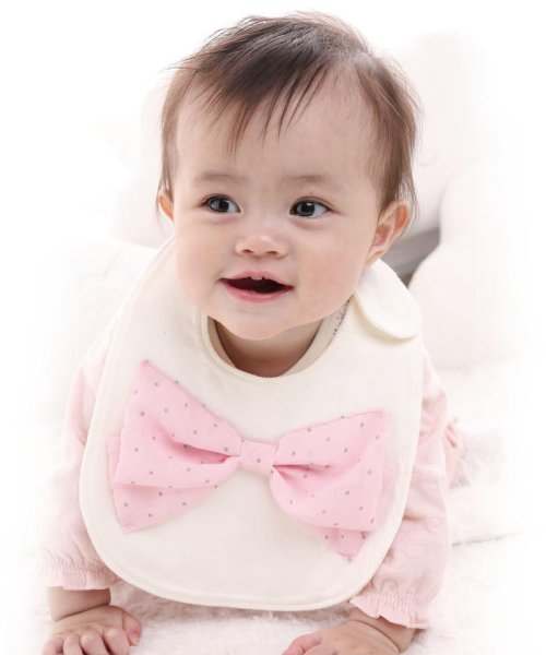e-baby(イーベビー)/天竺+シフォンリボンスタイ/183415518