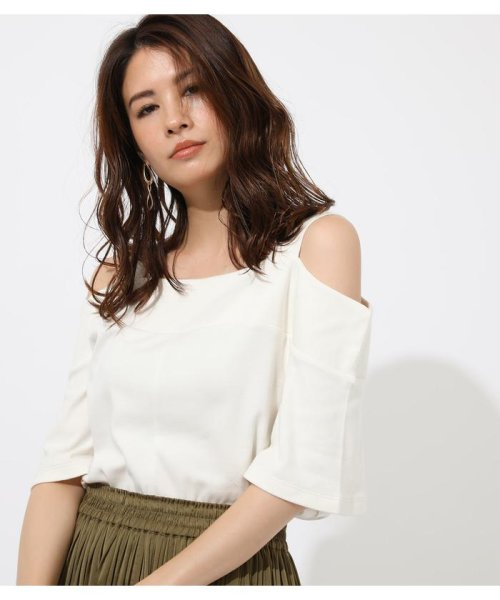 AZUL by moussy(アズールバイマウジー)/WIDE STRAP OPEN SHOULDER TOPS/250CSS80-614F