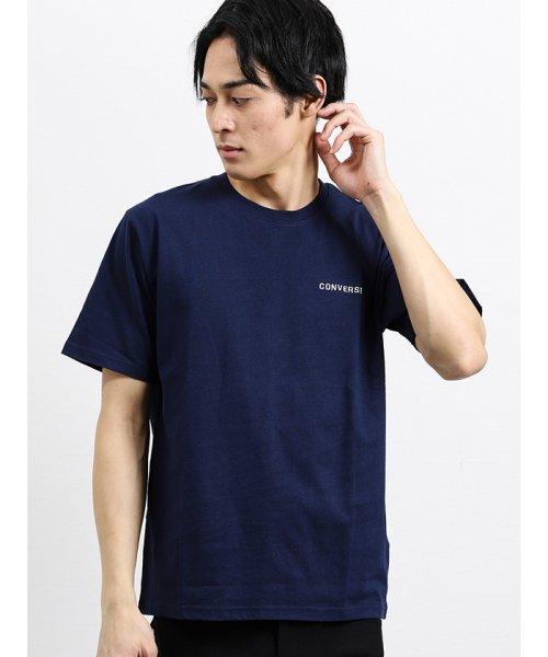 on the day(オンザデイ)/【WEB限定販売】コンバース/CONVERSE ワンポイント刺繍半袖Tシャツ/110207799801937