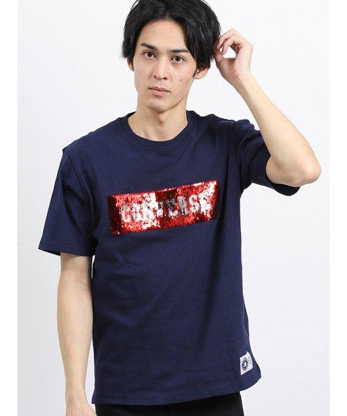 on the day(オンザデイ)/【WEB限定販売】コンバース/CONVERSE ロゴスパンコール半袖Tシャツ/110207799806937