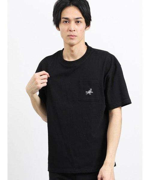 on the day(オンザデイ)/【WEB限定販売】カンゴール/KANGOL ポケット付きロゴ刺繍半袖Tシャツ/110207799814937