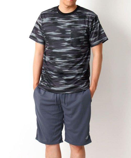 TopIsm(トップイズム)/上下セット!ドライメッシュTシャツとハーフパンツ/186-7001