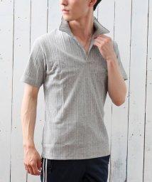 TopIsm/スキッパーメンズポロシャツ襟ワイヤー入り/502454939