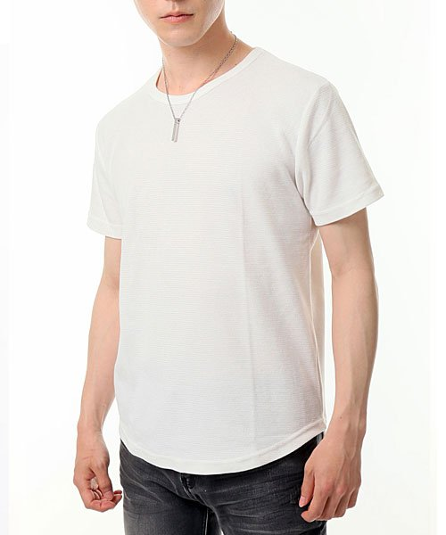 TopIsm(トップイズム)/ラウンドカット2重織Tシャツ/JB-80269