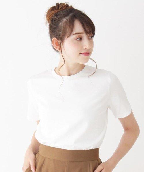 OPAQUE.CLIP(オペークドットクリップ)/コットンシンプルクルーネックTシャツ/20190263717202