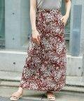 Ray Cassin /単色花柄セミフレアロングスカート/502455252