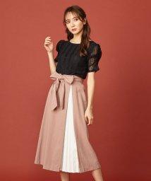 MIIA/プリーツ切替スカート/502455506
