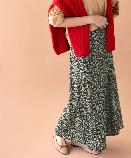 フラワーMIXプリントスカート