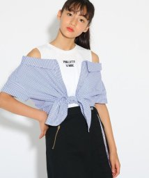 PINK-latte/裾結びシャツレイヤード トップス/502455620