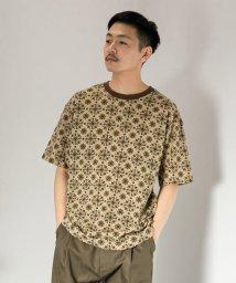 SENSE OF PLACE/レトロパターンTシャツ(5分袖)/502455656