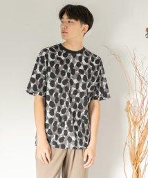 SENSE OF PLACE/ペイントTシャツ(5分袖)/502455657