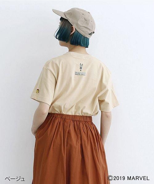merlot(メルロー)/【MARVEL/マーベル】袖刺繍バックプリントTシャツ/00010012-819290395001