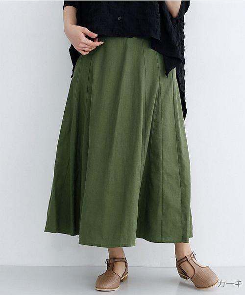 merlot(メルロー)/コットンリネンマーメードスカート/00010012-939130112869