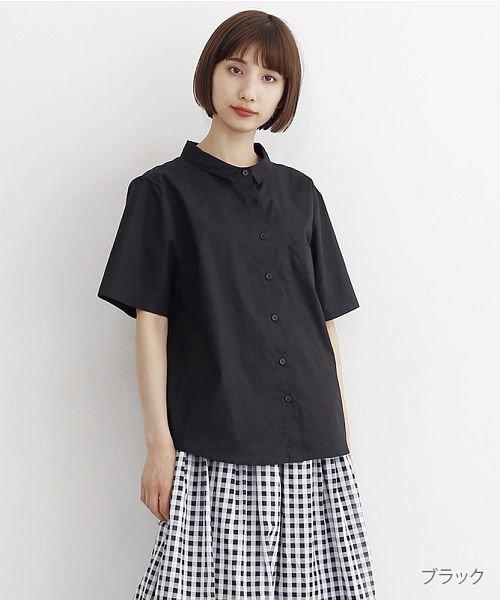merlot(メルロー)/ミニポケット半袖シャツ/00010012-939220033059
