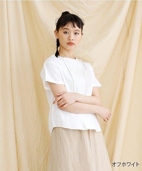 merlot(メルロー)/【IKYU】アシンメトリーボタンシャツ/00010012-939230062994