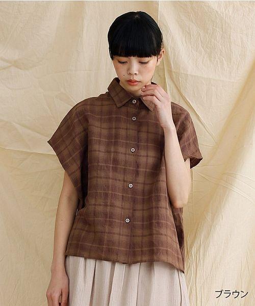 【IKYU】オーバーシルエットチェック織り柄シャツ
