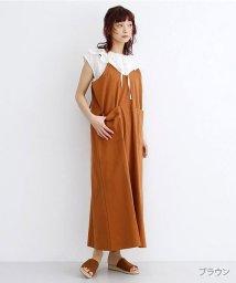 merlot/バックレースアップジャンパースカート/502455967