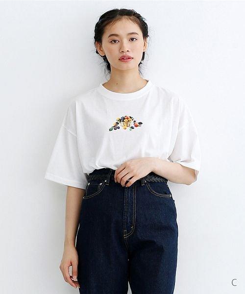 merlot(メルロー)/FOODフォトプリントTシャツ/00010012-939630033234