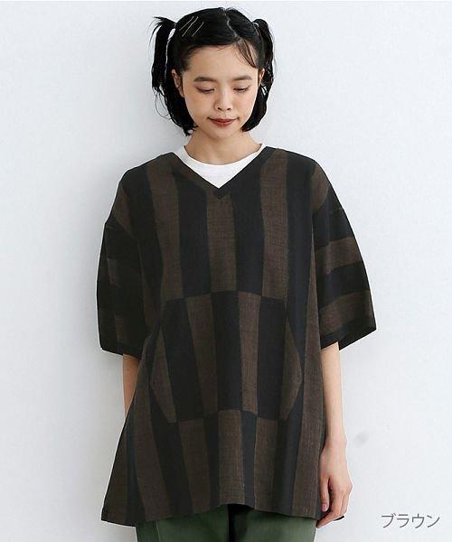 merlot(メルロー)/【IKYU】ストライププルオーバーシャツ/00010012-939670063174