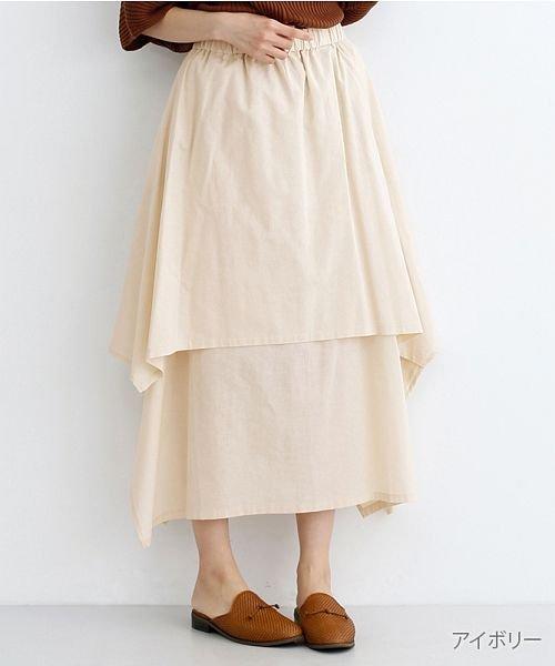 merlot(メルロー)/【IKYU】アシンメトリーフレアスカート/00010012-939670143148