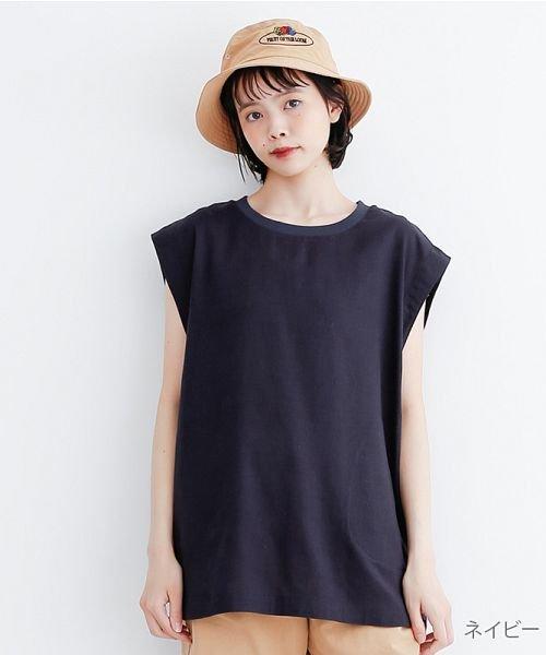 merlot(メルロー)/【IKYU】コットンリネンリブネックプルオーバー/00010012-939670143225