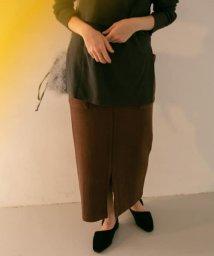 KBF/サイドポケットリブタイトスカート/502456213