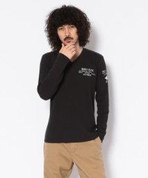 AVIREX/ミニワッフル プリントTシャツ/LS MINI WAFFLE PRINT T-SHIRT/502456757